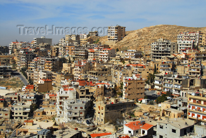 syria247: Saidnaya / Seydnaya - Rif Dimashq governorate, Syria: skyline - the town expands on the hills - photo by M.Torres / Travel-Images.com - (c) Travel-Images.com - Stock Photography agency - Image Bank