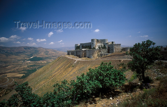 syria29: Syria - Crac des Chevaliers: Crusaders castle - Qala'at al-Hosn - UNESCO world heritage - photo by J.Wreford - (c) Travel-Images.com - Stock Photography agency - Image Bank