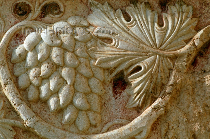 syria38: Syria - Palmyra / Tadmor / PMS: Temple of Bel - releif - grapes - photo by J.Wreford - (c) Travel-Images.com - Stock Photography agency - Image Bank