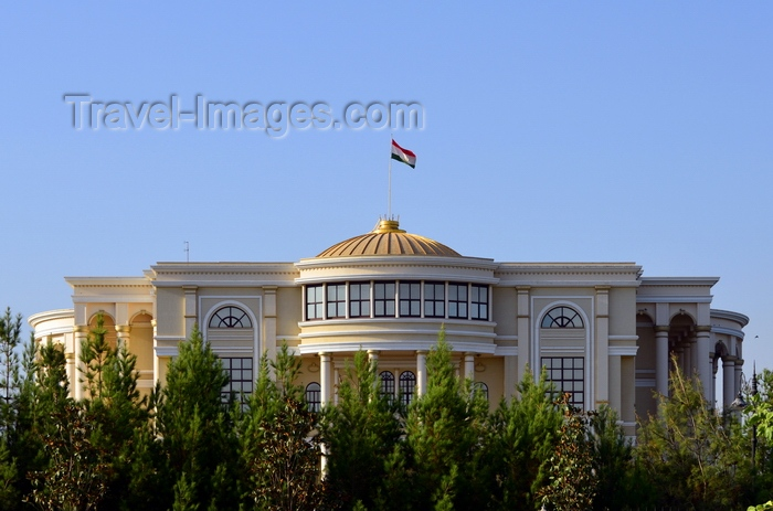 tajikistan11: Dushanbe, Tajikistan: façade of the president's palace, also known as Palace of the Nation - built for Emomalii Rahmon - photo by M.Torres - (c) Travel-Images.com - Stock Photography agency - Image Bank