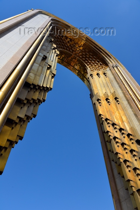 tajikistan48: Dushanbe, Tajikistan: arch of Ismoil Somoni monument seen from below - Dusti square - photo by M.Torres - (c) Travel-Images.com - Stock Photography agency - Image Bank