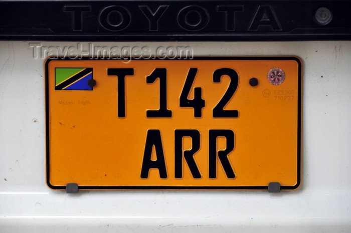 tanzania10: Dar es Salaam, Tanzania: Zambian license plate - photo by M.Torres - (c) Travel-Images.com - Stock Photography agency - Image Bank