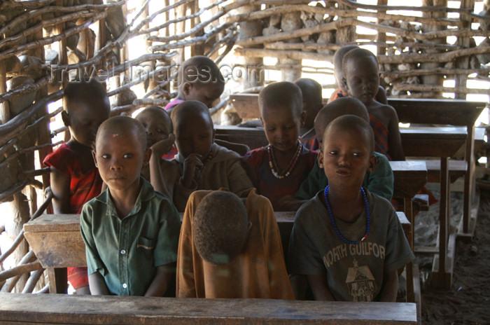 tanzania135: Tanzania - Children at school in a Masai village near Ngorongoro Crater - photo by A.Ferrari - (c) Travel-Images.com - Stock Photography agency - Image Bank