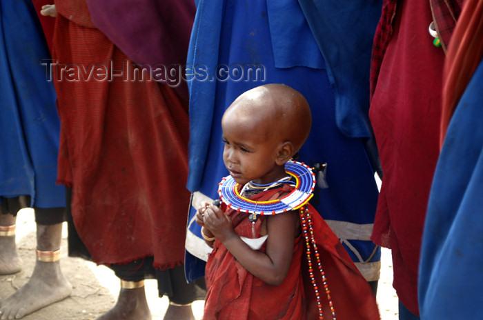 tanzania140: Tanzania - Child in a Masai village near Ngorongoro Crater - photo by A.Ferrari - (c) Travel-Images.com - Stock Photography agency - Image Bank