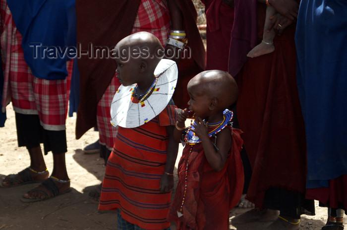 tanzania142: Tanzania - Children in a Masai village near Ngorongoro Crater - photo by A.Ferrari - (c) Travel-Images.com - Stock Photography agency - Image Bank