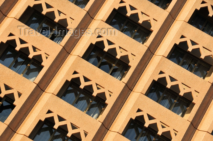 tanzania188: Dar es Salaam, Tanzania: Mövenpick Hotel - façade detail - Ohio Street - photo by M.Torres - (c) Travel-Images.com - Stock Photography agency - Image Bank