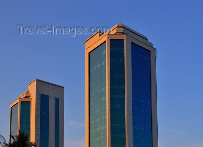 tanzania201: Dar es Salaam, Tanzania: Bank of Tanzania's twin towers on Mirambo Street - BoT headquarters , Benki Kuu ya Tanzania - photo by M.Torres - (c) Travel-Images.com - Stock Photography agency - Image Bank