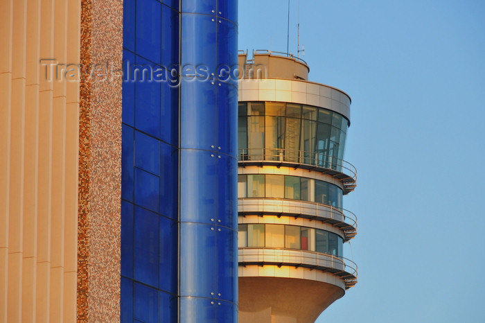 tanzania203: Dar es Salaam, Tanzania: the harbour control tower hides behind the Utumishi building - Kivukoni road - photo by M.Torres - (c) Travel-Images.com - Stock Photography agency - Image Bank