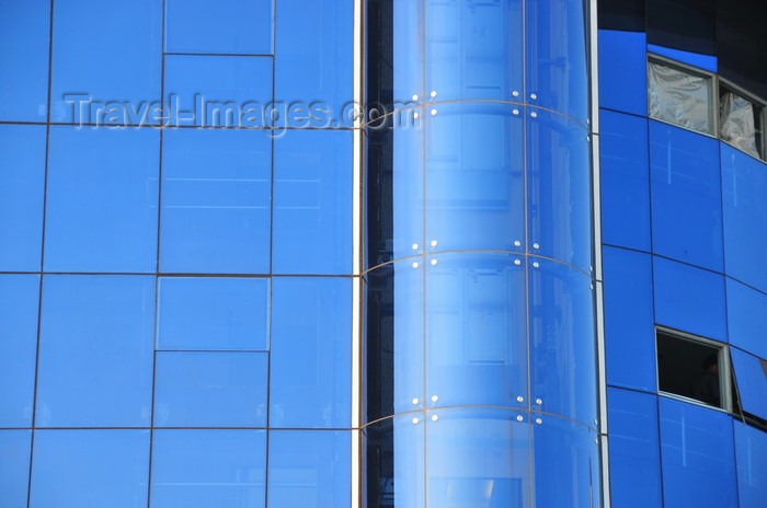 tanzania207: Dar es Salaam, Tanzania: glass curtain wall of the Utumishi building - President's Office, Public Service Management - Kivukoni front - photo by M.Torres - (c) Travel-Images.com - Stock Photography agency - Image Bank