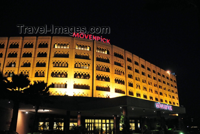 tanzania211: Dar es Salaam, Tanzania: Mövenpick Hotel at night - Ohio Street - photo by M.Torres - (c) Travel-Images.com - Stock Photography agency - Image Bank