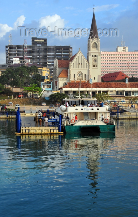 tanzania215: Dar es Salaam, Tanzania: Zanzibar ferry terminal and St Joseph's Cathedral - Sokoine Drive - waterfront - photo by M.Torres - (c) Travel-Images.com - Stock Photography agency - Image Bank