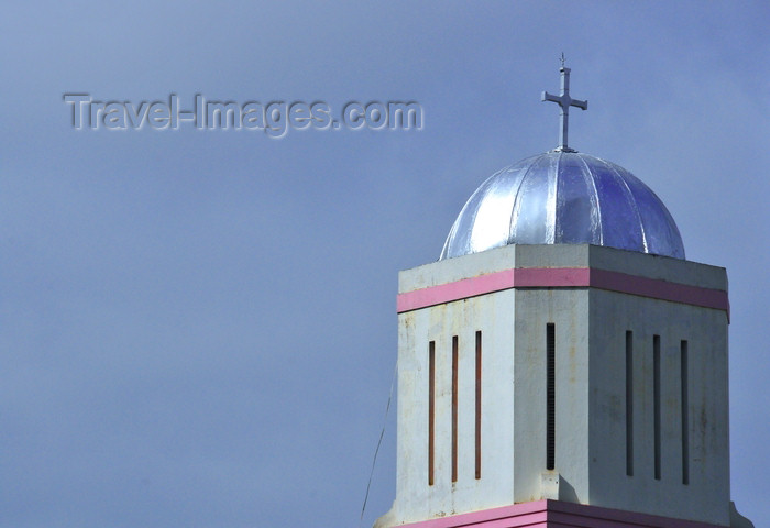 tanzania220: Dar es Salaam, Tanzania: church belfry - intersection of Maktaba and India Streets - photo by M.Torres - (c) Travel-Images.com - Stock Photography agency - Image Bank