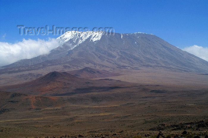 tanzania54: Tanzania - Kilimanjaro NP: Marangu Route - day 3 - Mount Kilimanjaro, the Kibo peak and the route - photo by A.Ferrari - (c) Travel-Images.com - Stock Photography agency - Image Bank