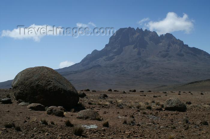 tanzania61: Tanzania - Kilimanjaro NP: Marangu Route - day 4 - Mount Kilimanjaro, the Mawenzi peak seen from the Saddle - photo by A.Ferrari - (c) Travel-Images.com - Stock Photography agency - Image Bank