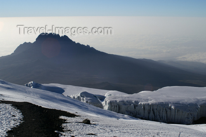 tanzania85: Tanzania - Kilimanjaro NP: Marangu Route - day 5 - Mount Kilimanjaro, view over Mawenzi from the Uhuru peak - photo by A.Ferrari - (c) Travel-Images.com - Stock Photography agency - Image Bank