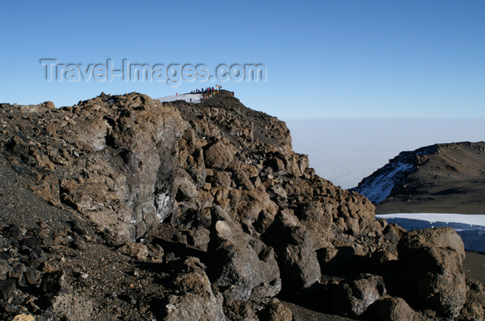 tanzania86: Tanzania - Kilimanjaro NP: Marangu Route - day 5 - Mount Kilimanjaro, just a few meters left to the top of Africa - photo by A.Ferrari - (c) Travel-Images.com - Stock Photography agency - Image Bank