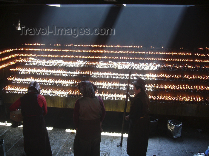 tibet43: Tibet - Lhasa: Jokhang Temple - light and darkness - photo by M.Samper - (c) Travel-Images.com - Stock Photography agency - Image Bank