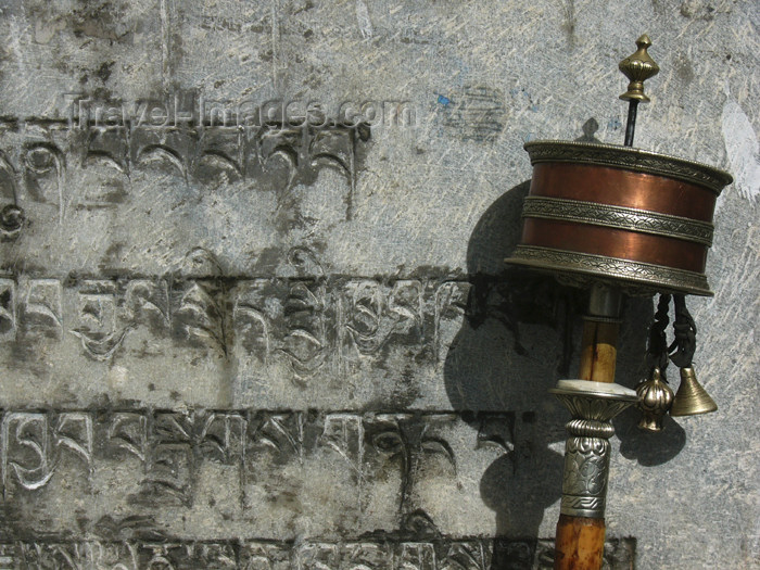 tibet48: Tibet - Lhasa: Jokhang Temple - portable prayer wheel - photo by M.Samper - (c) Travel-Images.com - Stock Photography agency - Image Bank