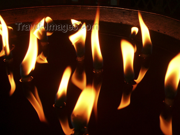 tibet59: Tibet - Lhasa: Jokhang Temple - flames - photo by M.Samper - (c) Travel-Images.com - Stock Photography agency - Image Bank