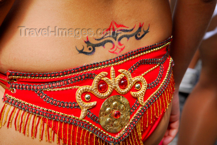 trinidad-tobago141: Port of Spain, Trinidad and Tobago: tattoo on the lower back of a Trinidad girl - photo by E.Petitalot - (c) Travel-Images.com - Stock Photography agency - Image Bank