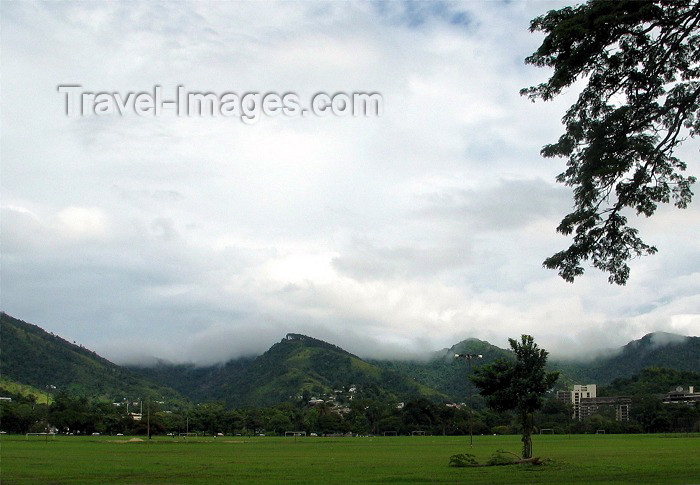 trinidad-tobago15: Trinidad - Port of Spain: clouds and soccer fields - photo by P.Baldwin - (c) Travel-Images.com - Stock Photography agency - Image Bank