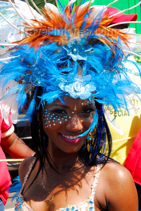 trinidad-tobago157: Port of Spain, Trinidad and Tobago: exotic girl with colourful feathers - carnival - photo by E.Petitalot - (c) Travel-Images.com - Stock Photography agency - Image Bank