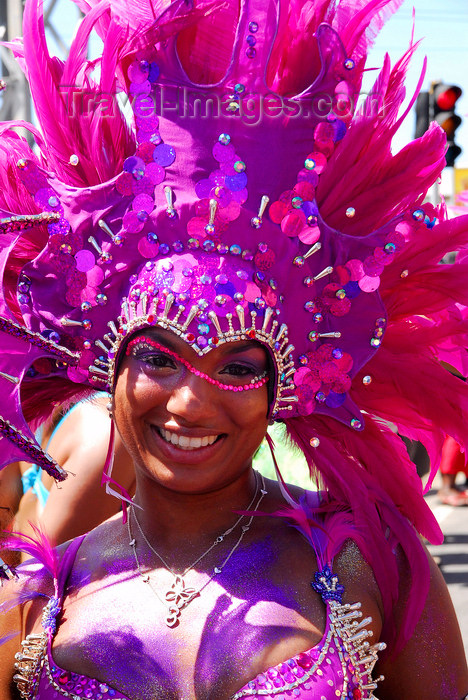 trinidad-tobago158: Port of Spain, Trinidad and Tobago: girl with pink feathers on the head - carnival - photo by E.Petitalot - (c) Travel-Images.com - Stock Photography agency - Image Bank
