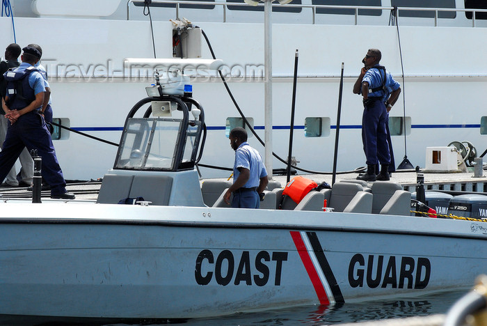 trinidad-tobago53: Port of Spain, Trinidad: Coast Guard in the harbour - photo by E.Petitalot - (c) Travel-Images.com - Stock Photography agency - Image Bank