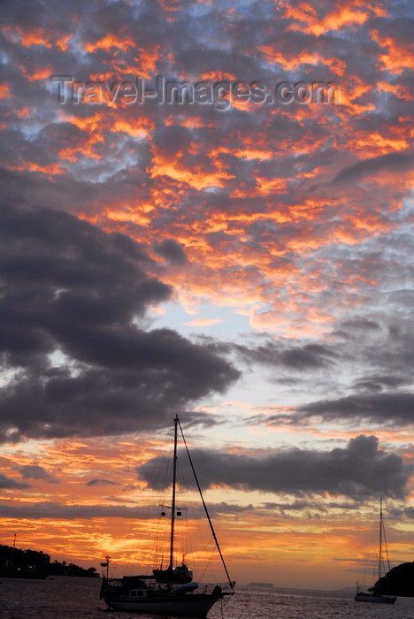 trinidad-tobago63: Trinidad: sunset in a Caribbean harbour - photo by E.Petitalot - (c) Travel-Images.com - Stock Photography agency - Image Bank