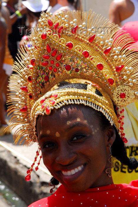 trinidad-tobago79: Port of Spain, Trinidad and Tobago: girl with jewel encrusted crown during the carnival celebrations - photo by E.Petitalot - (c) Travel-Images.com - Stock Photography agency - Image Bank