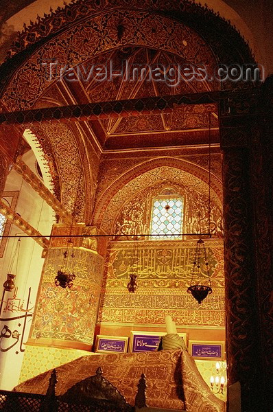 turkey102: Konya / KYA - Central Anatolia, Turkey : Mevlana Celaleddin Rumi mausoleum - inside /turbe - mystic poet - Sufi - Whirling Dervishes - photo by J.Kaman - (c) Travel-Images.com - Stock Photography agency - Image Bank