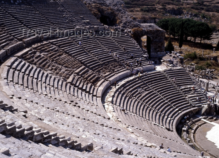 turkey103: Efes / Ephesus - Selcuk, Izmir province, Aegean region, Turkey: ancient Ionian Greek city with theater for 25 000 people dated  to I and II centuries AD - photo by J.Fekete - (c) Travel-Images.com - Stock Photography agency - Image Bank