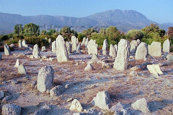 turkey124: Turkey - Alanya / Alaya, Alaia, Alaiye - Antalya Province - Mediterranean region: menhirs / menirs - photo by J.Kaman - (c) Travel-Images.com - Stock Photography agency - Image Bank