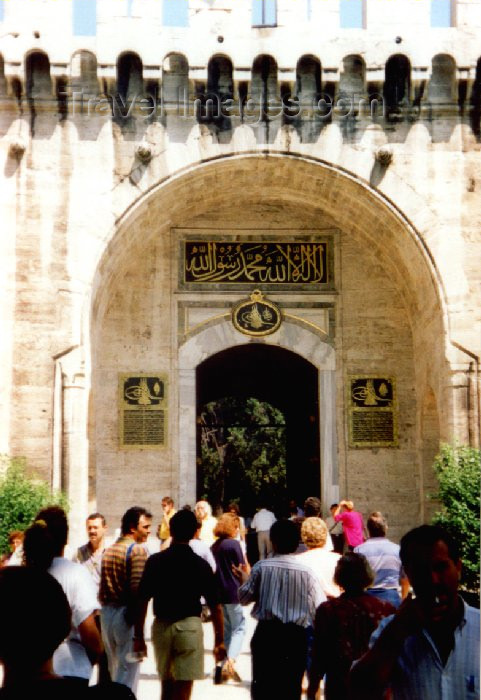 turkey14: Istanbul, Turkey: Topkapi palace - Gate of Salutation - photo by M.Torres - (c) Travel-Images.com - Stock Photography agency - Image Bank