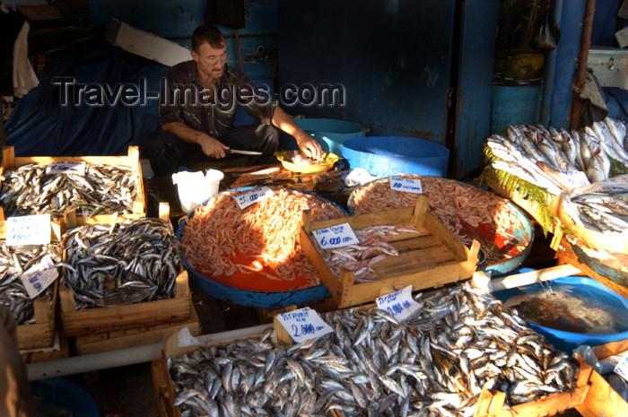 turkey181: Istanbul, Turkey: fish market - photo by J.Wreford - (c) Travel-Images.com - Stock Photography agency - Image Bank
