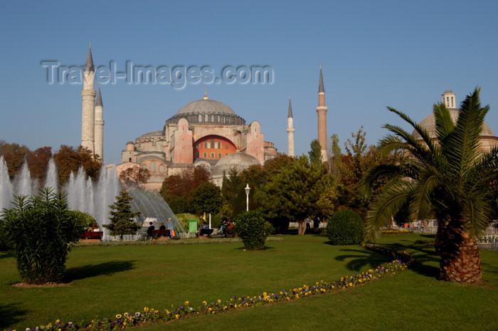 turkey208: Istanbul, Turkey: Aya Sofya - lawn - Sultan Ahmet Square  - Eminönü District - photo by J.Wreford - (c) Travel-Images.com - Stock Photography agency - Image Bank
