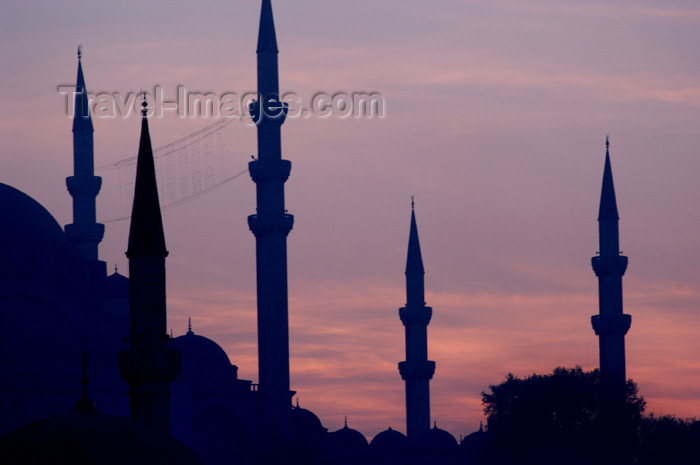 turkey216: Istanbul, Turkey: minarets - photo by J.Wreford - (c) Travel-Images.com - Stock Photography agency - Image Bank