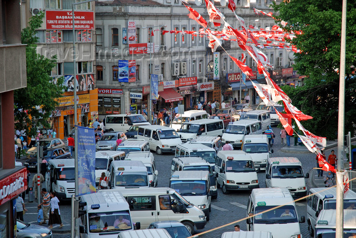 turkey23: Trabzon , Black Sea region, Turkey: traffic and election banners - street scene - photo by W.Allgöwer - (c) Travel-Images.com - Stock Photography agency - Image Bank