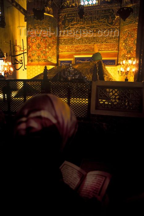turkey251: Turkey - Konya / KYA : Mevlana Celaleddin Rumi mausoleum - inside / turbe - mystic poet - prayer - photo by J.Wreford - (c) Travel-Images.com - Stock Photography agency - Image Bank