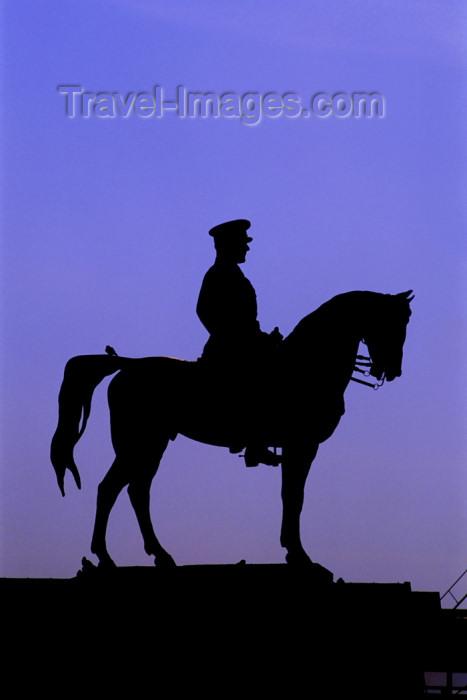 turkey253: Turkey - Ankara: Kemal Ataturk - silhouette - equestrian statue - horse - photo by J.Wreford - (c) Travel-Images.com - Stock Photography agency - Image Bank