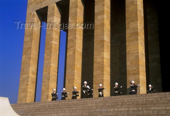 turkey256: Turkey - Ankara: Ataturk Memorial - changing the guard - photo by J.Wreford - (c) Travel-Images.com - Stock Photography agency - Image Bank