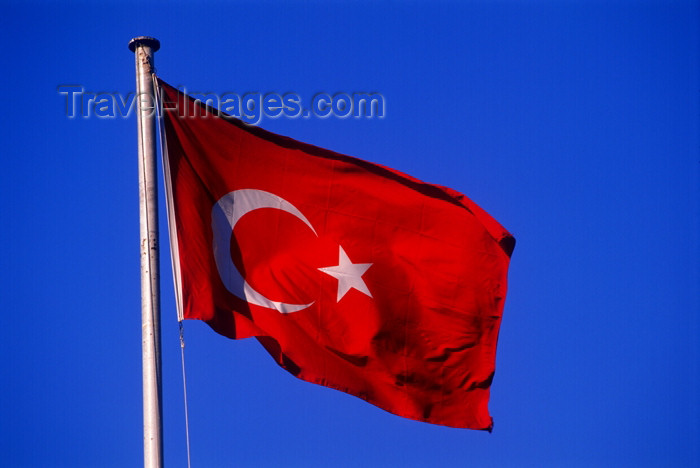 turkey258: Turkey - Ankara: Turkish flag - photo by J.Wreford - (c) Travel-Images.com - Stock Photography agency - Image Bank
