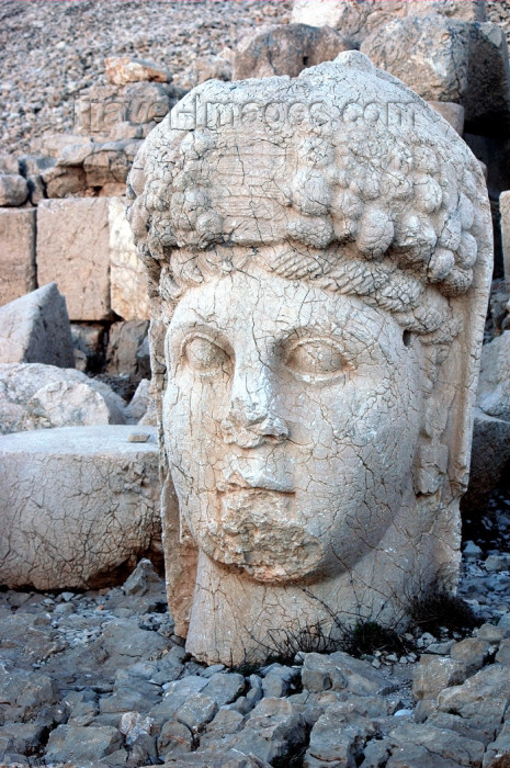 turkey282: Turkey - Mt Nemrut: Tyche or Fortuna statue - elaborate hellenistic hairstyle - photo by C. le Mire - (c) Travel-Images.com - Stock Photography agency - Image Bank