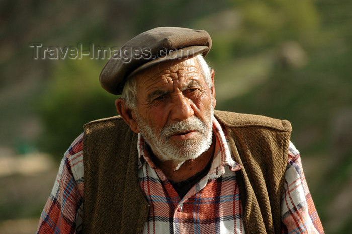turkey289: Turkey - near Kahta, Adiyaman province: old man riding a donkey - photo by C. le Mire - (c) Travel-Images.com - Stock Photography agency - Image Bank