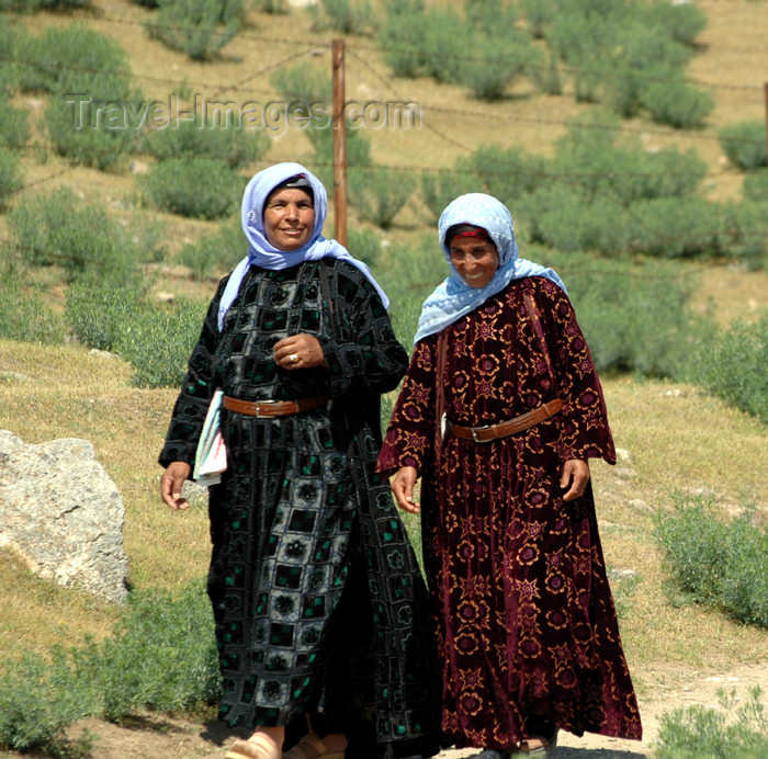 turkey298: Harran, Sanli Urfa province, Turkey: laughing women - traditional clothes - photo by C. le Mire - (c) Travel-Images.com - Stock Photography agency - Image Bank