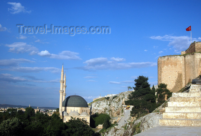 turkey310: Turkey - Urfa / Edessa: the citadel - fortress - castle - photo by C. le Mire - (c) Travel-Images.com - Stock Photography agency - Image Bank