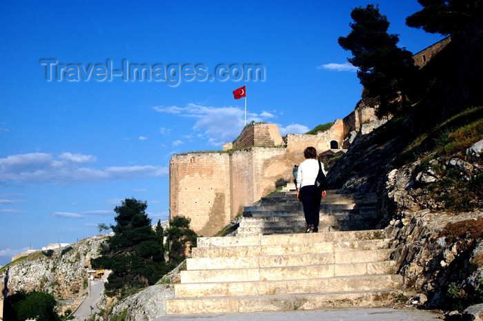 turkey311: Urfa / Edessa, Turkey: climbing to the citadel - Abbasid walls - photo by C. le Mire - (c) Travel-Images.com - Stock Photography agency - Image Bank