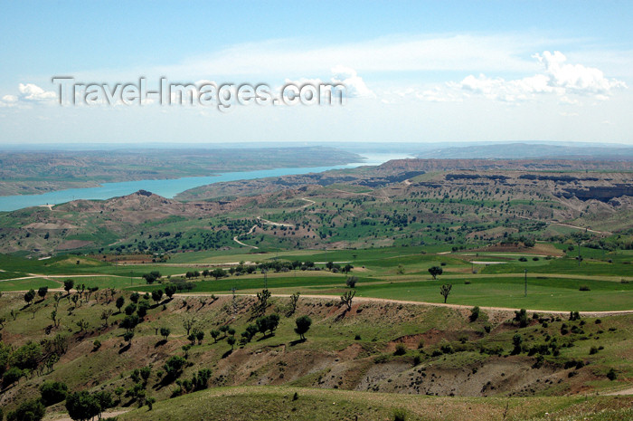 turkey316: Turkey - Ataturk dam, Adiyaman Province: view from Karakus Tumulus / barrage Atatürk - photo by C. le Mire - (c) Travel-Images.com - Stock Photography agency - Image Bank