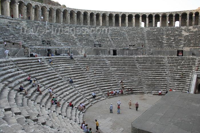 turkey339: Turkey - Aspendos / Belkis (Antalya province): Roman Theatre built on the amphylian plain by Emperor Marcus Aurelius - photo by C.Roux - (c) Travel-Images.com - Stock Photography agency - Image Bank
