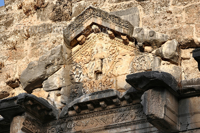 turkey340: Turkey - Aspendos / Belkis (Antalya province): Roman Theater - Dionysus / Dionysius, god of wine and entertainment above the stages - photo by C.Roux - (c) Travel-Images.com - Stock Photography agency - Image Bank